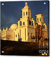 Mission San Xavier Del Bac Last Light Acrylic Print