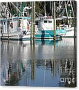 Mississippi Boats Acrylic Print by Carol Groenen