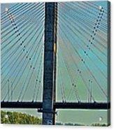 Mississippi River Bridge At Cape Girardeau Mo  Acrylic Print