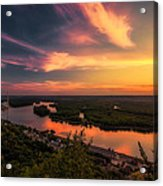Mississippi River Evening Acrylic Print