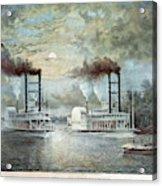 Mississippi River Race, C1859 Acrylic Print