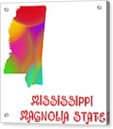 Mississippi State Map Collection 2 Acrylic Print