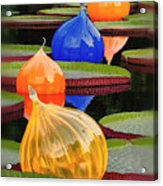 Missouri Botanical Garden Six Glass Spheres And Lilly Pads Img 5490 Acrylic Print