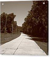 Missouri Route 66 2012 Sepia. Acrylic Print