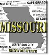 Missouri State Pride Map Silhouette  Acrylic Print