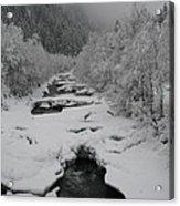 Mist Above The Creek Acrylic Print