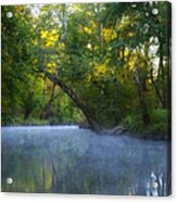Mist On The Wissahickon Acrylic Print