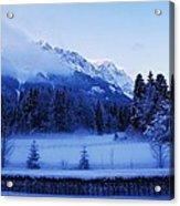 Mist Over Alps Acrylic Print