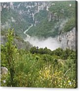 Mist Over Grand Canyon Du Verdon  Acrylic Print