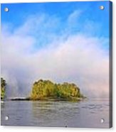 Mist Rising On The Willamette River Acrylic Print