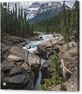 Mistaya River And Canyon Acrylic Print