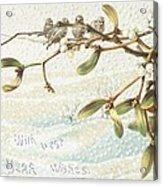 Mistletoe In The Snow Acrylic Print by English School