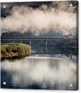 Mists And Bridge Over Klamath Acrylic Print