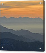 Mists In The Mountains At Sunset Acrylic Print