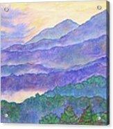 Misty Blue Ridge Acrylic Print