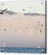Misty City Acrylic Print