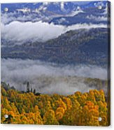 Misty Day In The Cairngorms Acrylic Print