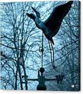 Misty Egret Acrylic Print
