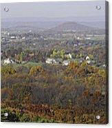 Misty Fall Pano Of The Shenandoah Valley Acrylic Print