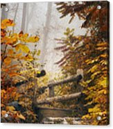 Misty Footbridge Acrylic Print