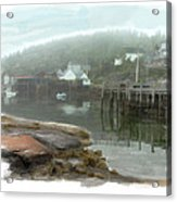 Misty Harbor Acrylic Print