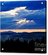 Misty Hills Acrylic Print by Steven Valkenberg