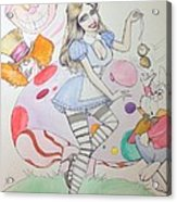 Misty Kay In Wonderland Acrylic Print