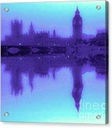 Misty London Reflection Acrylic Print