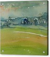Misty Morning, 1981 Wc On Paper Acrylic Print