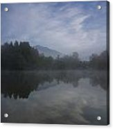 Misty Morning Acrylic Print by Aaron Bedell