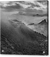 Misty Morning At Great Wall Acrylic Print