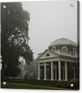 Misty Morning At Monticello Acrylic Print