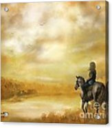 Misty Morning Horseback Ride Acrylic Print