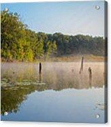 Misty Morning Lake Acrylic Print