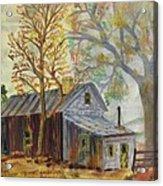 Misty Morning On Hermit Hill Acrylic Print