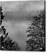 Misty Morning Sunrise Black And White Art Prints Acrylic Print