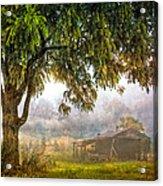 Misty Mountain Barn Acrylic Print