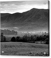 Misty Mountain Morning Acrylic Print by Dan Sproul