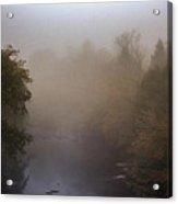 Misty Mtn. Top Acrylic Print by Paul Herrmann
