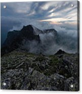 Misty Peaks And A Whiff Of Danger Acrylic Print