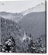 Misty Pikes Peak Acrylic Print