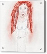 Misty Red Acrylic Print