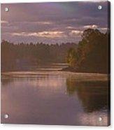 Misty River Reflection Acrylic Print
