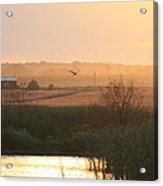 Misty Southern Indiana Sunset Acrylic Print