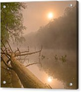 Misty Sun Acrylic Print
