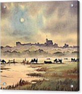 Misty Sunrise - Windsor Meadows Acrylic Print