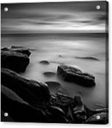 Misty Water Black And White Acrylic Print