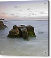 Misty Waters Acrylic Print by Peter Tellone