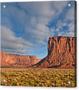 Mitchell Butte And Gray Whiskers In The Evening Light Acrylic Print