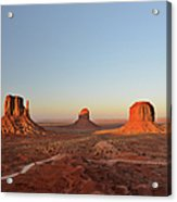 Mittens And Merrick Butte Monument Valley Acrylic Print